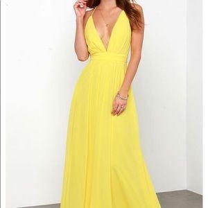Lulus Yellow Formal Dress